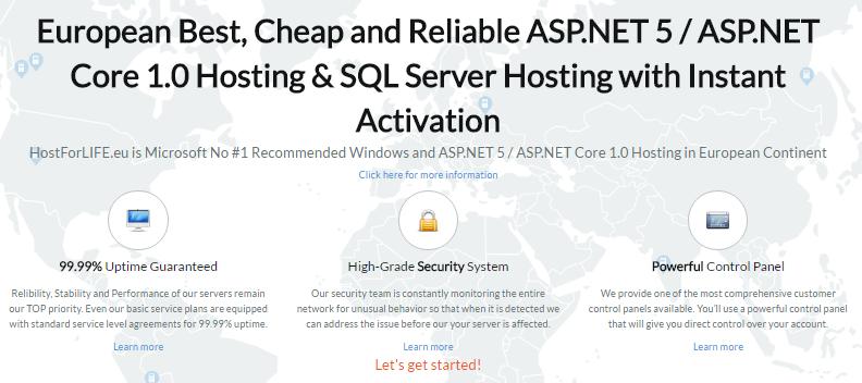 Reliable ASP.NET MVC 5 Hosting :: Professional ASP.NET Hosting Provider